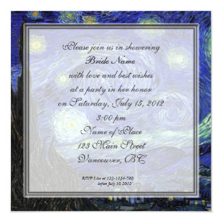 Bridal Shower,Vincent van Gogh, Starry Night Card