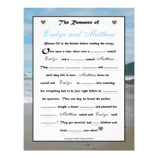 Bridal Shower Wedding Libs Game - Beach Flyer