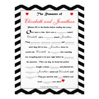 Bridal Shower Wedding Libs Game - Chevron Flyers