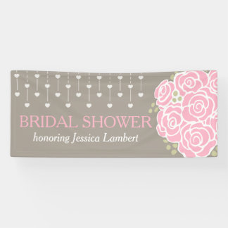 Bridal shower wedding posy name banner