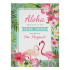 Bridal Shower Welcome Sign   Tropical Flamingo