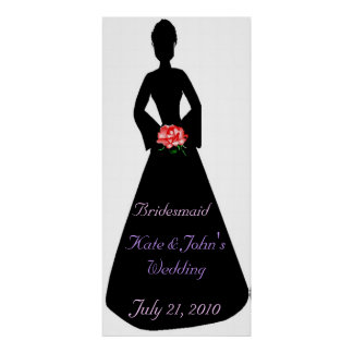Bridal Silhouette Bridesmaid Poster