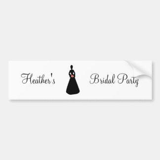 Bridal Silhouette I Bridal Party Bumper Sticker