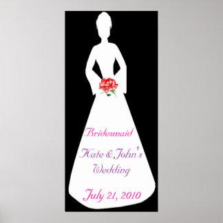 Bridal Silhouette I Bridesmaid Posters