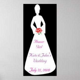 Bridal Silhouette I Flower Girl Poster