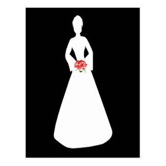 Bridal Silhouette I Postcard