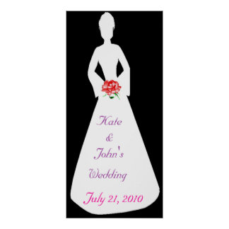 Bridal Silhouette I Posters