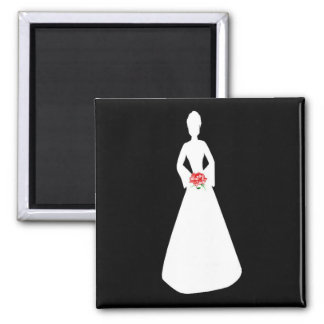 Bridal Silhouette I Refrigerator Magnets