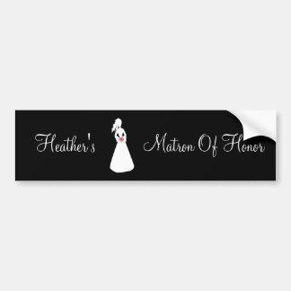 Bridal Silhouette II Matron Of Honor Bumper Sticker