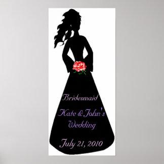 Bridal Silhouette III Bridesmaid Posters