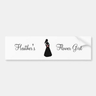 Bridal Silhouette III Flower Girl Bumper Sticker