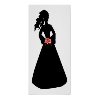 Bridal Silhouette III Poster Posters