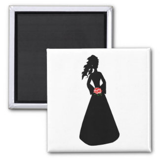 Bridal Silhouette III Refrigerator Magnets