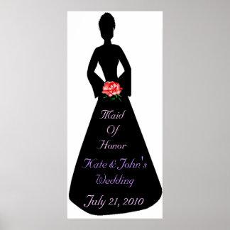 Bridal Silhouette Maid Of Honor Print