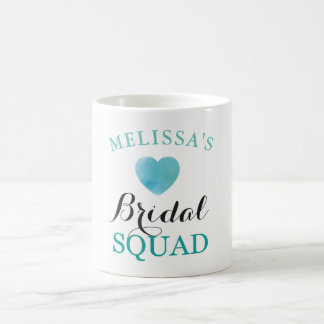 Bridal Squad Hen Party Bridal Blue Heart Cup Gift