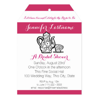 Bridal Tea Party with Color Choice Card