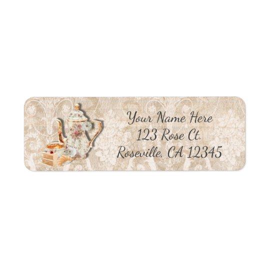 Bridal Tea Shower & Cake Vintage Invitation