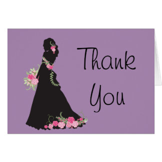 Bridal Thank You Silhouette Gown Card