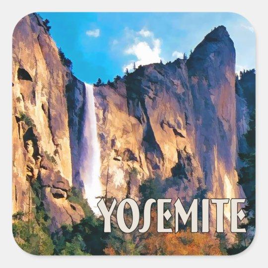 Bridal Veil Falls Yosemite National Park Square Sticker