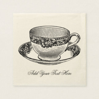 Bridal Vintage Tea Cup Disposable Napkin