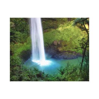 Bridal Waterfall Premium Wrapped Canvas (Gloss) Canvas Print