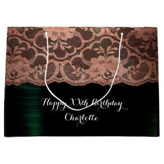 Bridal Wedding Birthday Metallic Cali Rose Gold Large Gift Bag