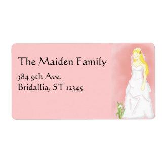 Bridal Wedding Dress Label Shipping Label
