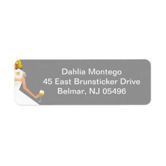 Bridal Wine Ensemble Return Address Label