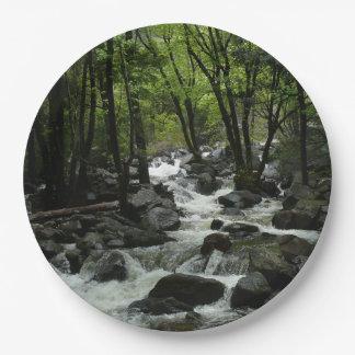 Bridalveil Creek in Yosemite National Park 9 Inch Paper Plate