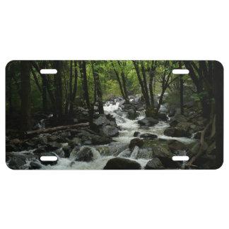 Bridalveil Creek in Yosemite National Park License Plate