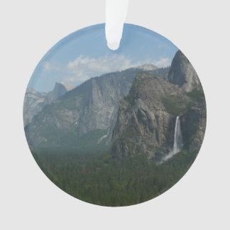 Bridalveil Falls and Half Dome at Yosemite Ornament