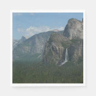 Bridalveil Falls and Half Dome at Yosemite Paper Napkin