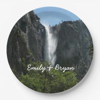 Bridalveil Falls at Yosemite National Park 9 Inch Paper Plate