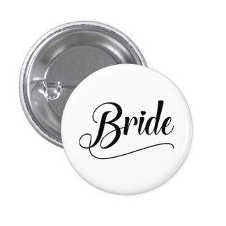 Bride 1 Inch Round Button