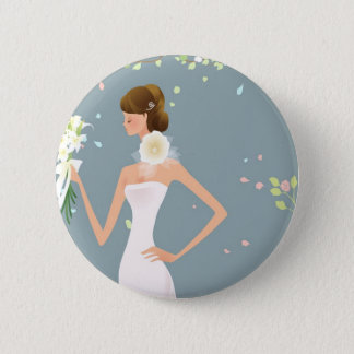 Bride 2 Inch Round Button