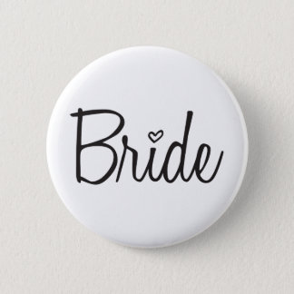 Bride 2 Inch Round Button