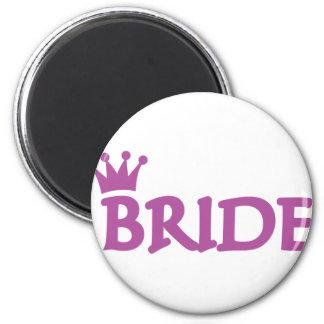 bride 2 inch round magnet