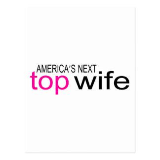 Bride Americas Next Top Wife Postcard
