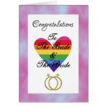 bride and bride gay lesbian Congratulations Greeting Cards