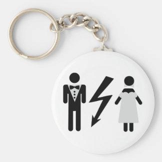 bride and bridegroom icon basic round button keychain