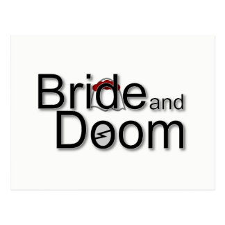 Bride and Doom postcard