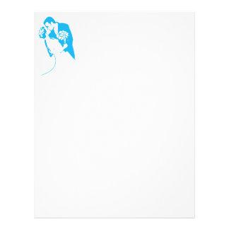 Bride and Groom 01 Light Blue Custom Letterhead
