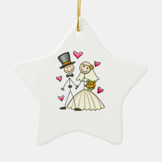 Bride and Groom Ceramic Ornament