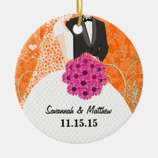 Bride and Groom Christmas Ornament