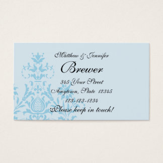 Bride and Groom Contact Information Card