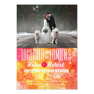 Bride and groom - couple christmas - white dogs card