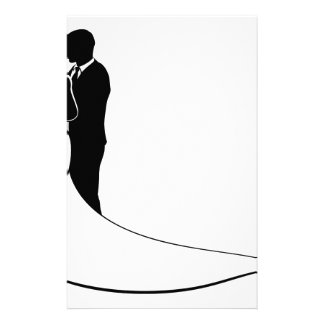 Bride and Groom Couple Wedding Silhouette Stationery Design