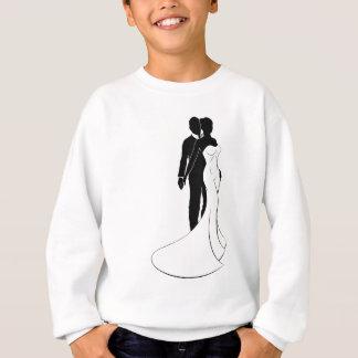 Bride and Groom Couple Wedding Silhouette Sweatshirt
