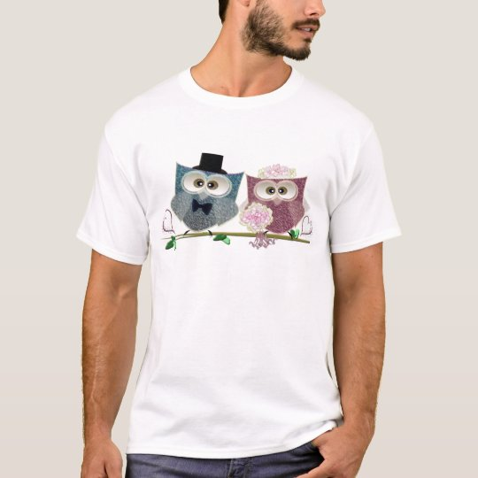 Bride and Groom cute Owls Art T-Shirt
