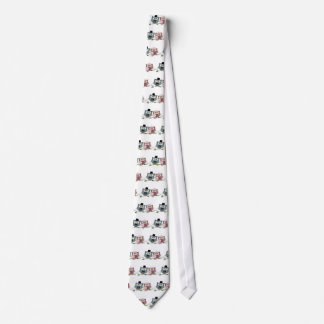 Bride and Groom cute Owls Art Tie